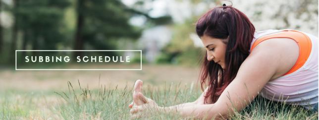 Sub schedule